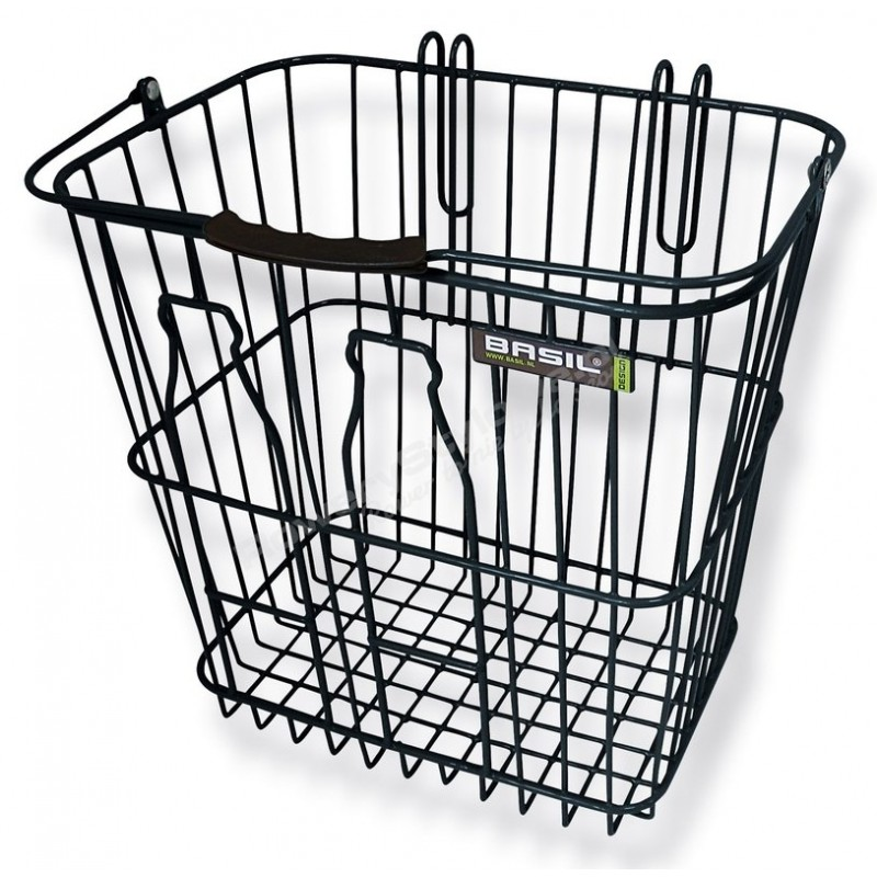 BASIL KOSZ TYLNY BOTTLE BASKET, black