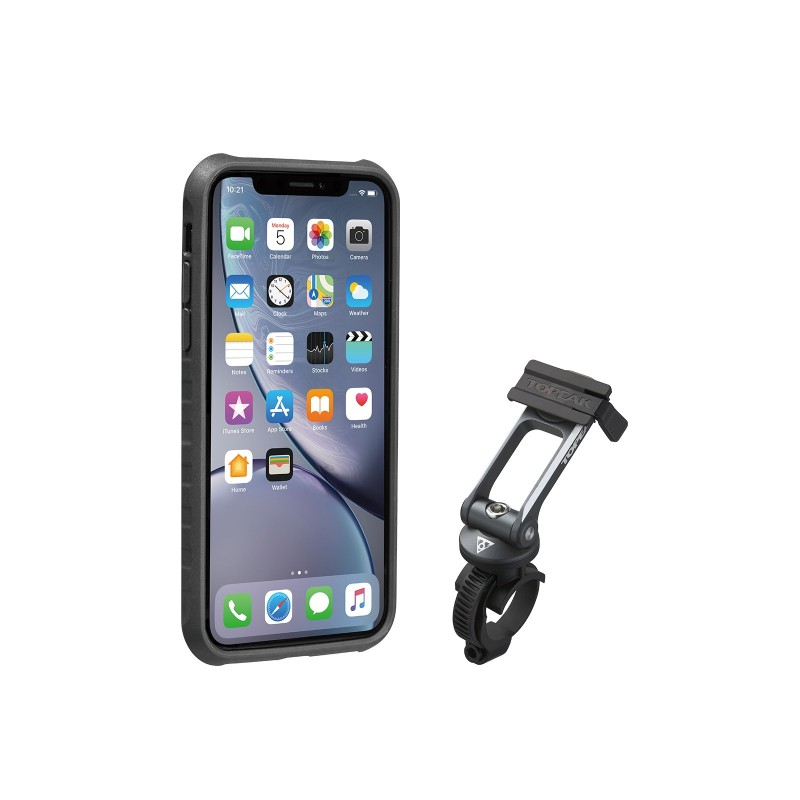 TOPEAK POKROWIEC RIDECASE FOR iPHONE XR BLACK/GRAY new 2019
