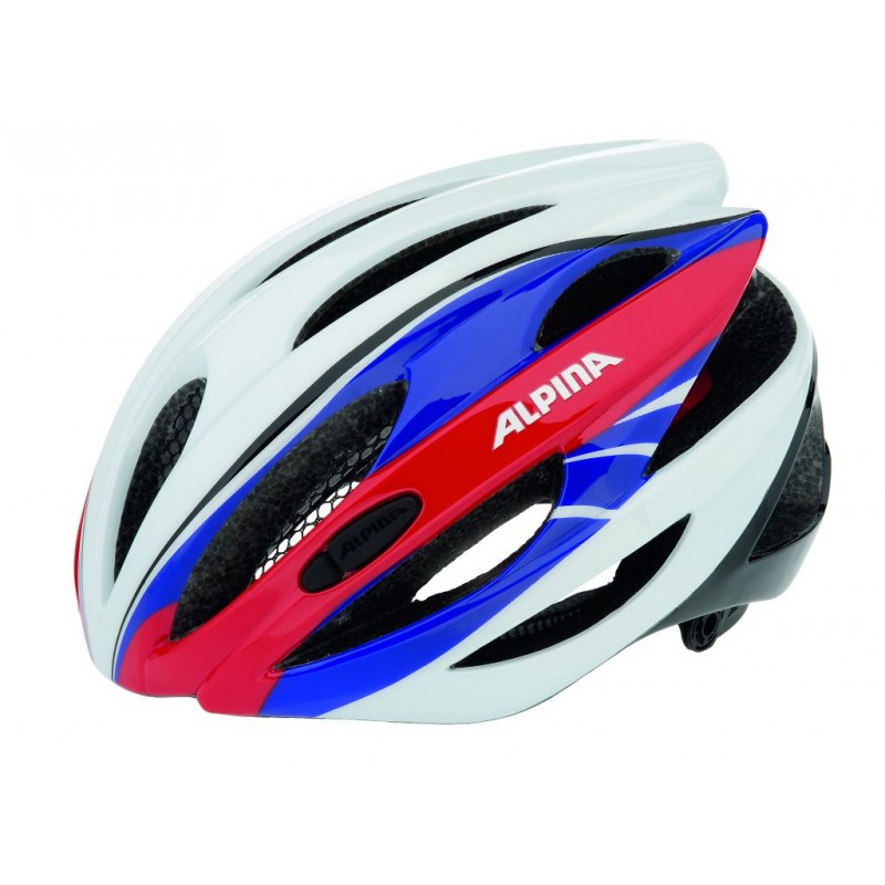 ALPINA KASK CYBRIC WHITE-BLUE-RED 53-57 new 2018